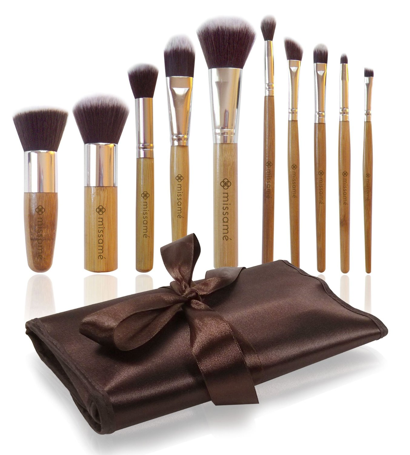Missamé 10 Pcs Makeup Brushes For Face And Eye Cosmetics...