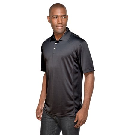Block Pique (Tri-Mountain Performance Vigor 158 UltraCool Pique Golf Shirt, 2X-Large, Black )