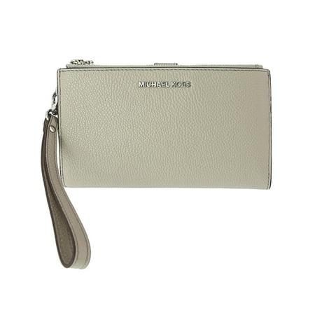 Double Zip Around Wristlet (Michael Kors Women's Double Zip Wristlet - Pearl Grey)