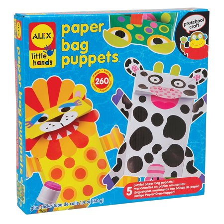 Little Hands Paper Bag Puppets, Get creative and make paper bag puppets By ALEX Toys Paper Bag Puppets Kit