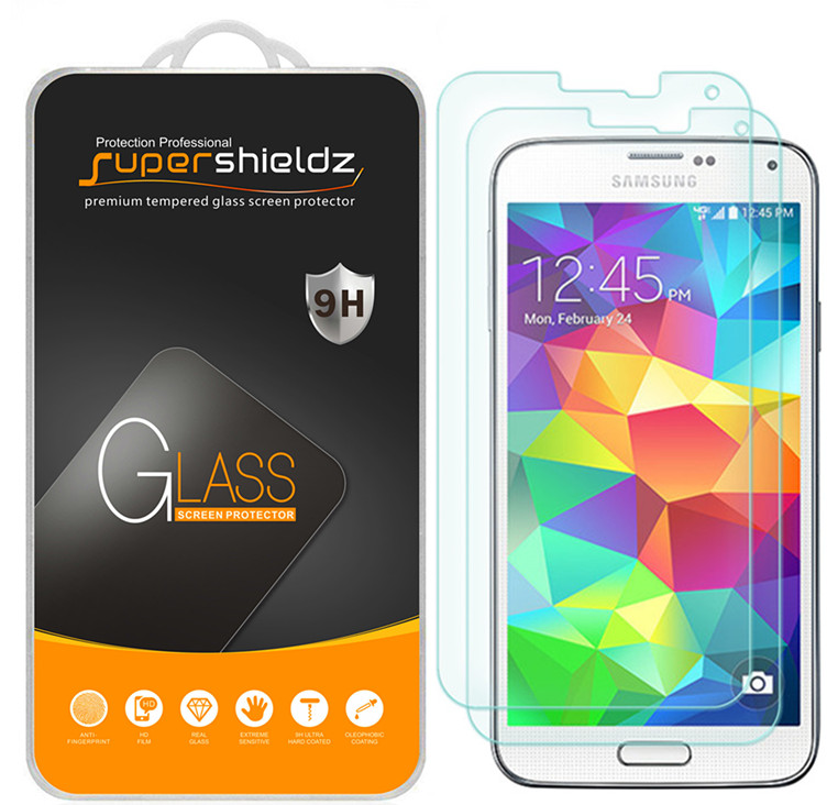 [2-Pack] Supershieldz Samsung Galaxy S5  Tempered Glass Screen Protector, Anti-Scratch, Anti-Fingerprint, Bubble Free