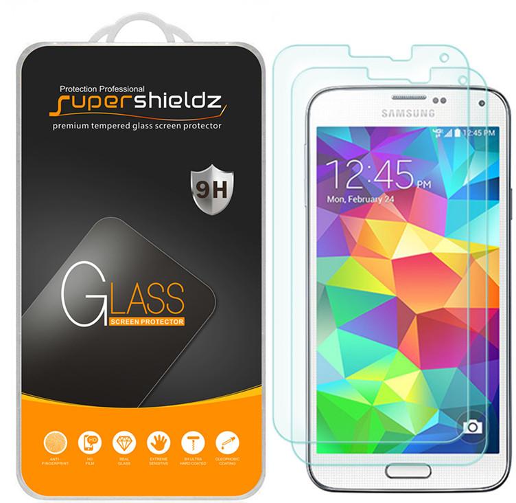 [2-Pack] Supershieldz Samsung Galaxy S5  Tempered Glass Screen Protector, Anti-Scratch, Anti-Fingerprint, Bubble Free