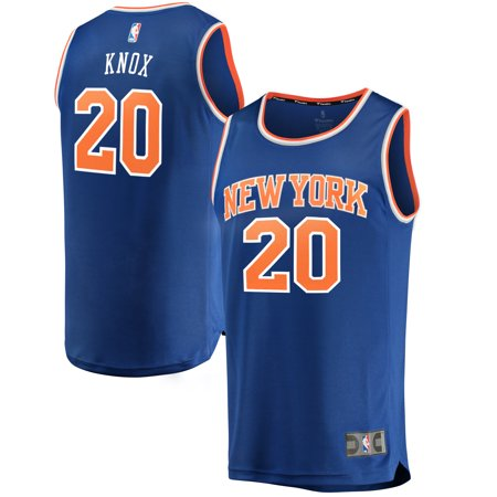 separation shoes 4a31c 169aa Kevin Knox New York Knicks Fanatics Branded Youth Fast Break Replica Jersey  Blue - Icon Edition
