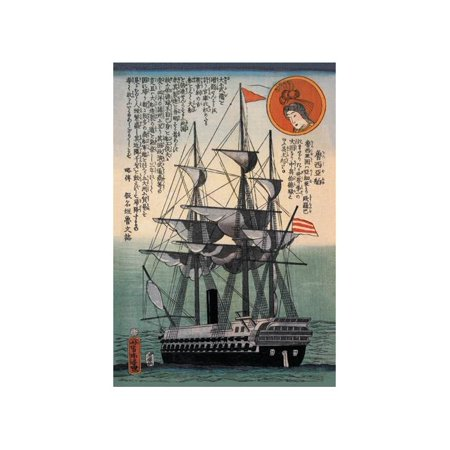 Portrait of A Russian Ship Print (Unframed Paper Print 20x30)