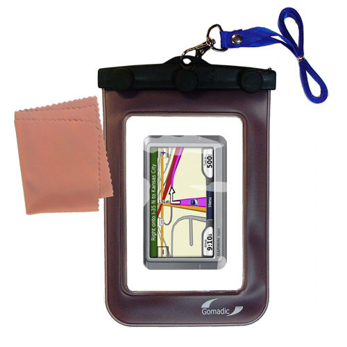 Gomadic Clean and Dry Waterproof Protective Case Suitablefor the Garmin Nuvi 260W 260 to use Underwater