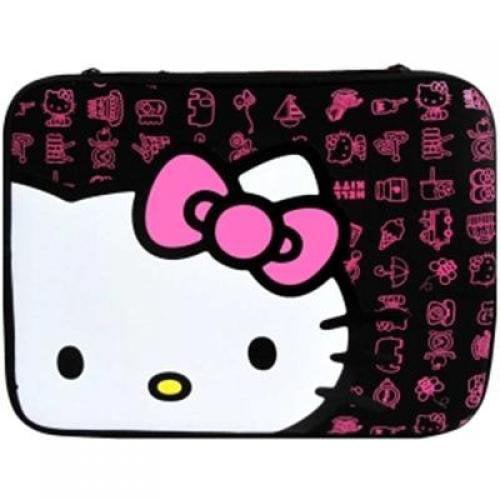 Sakar International 20409G-BLK Hello Kitty Laptop Sleeve Blk