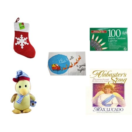christmas fun gift bundle 5 piece be jolly sparkle stocking 19