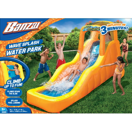 Banzai Wave Splash Water Slide (Inflatable Backyard Summer Aqua Fun)