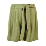 Vince Camuto Women's Belted Pleated Front Serengeti Shorts