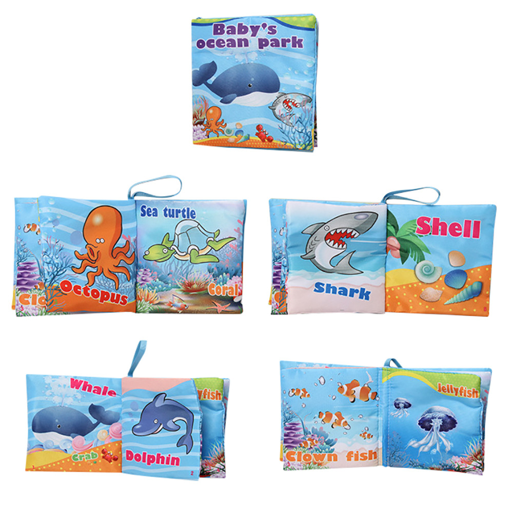 Mosunx New Soft Cloth Baby Intelligence Development Learn Picture Cognize Book