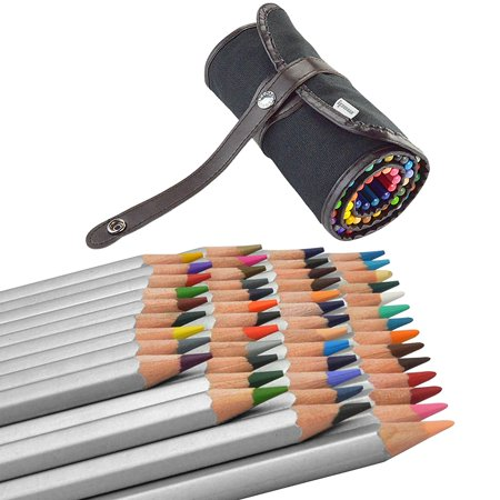 ipow assorted colored pencils art drawing supplies with roll up