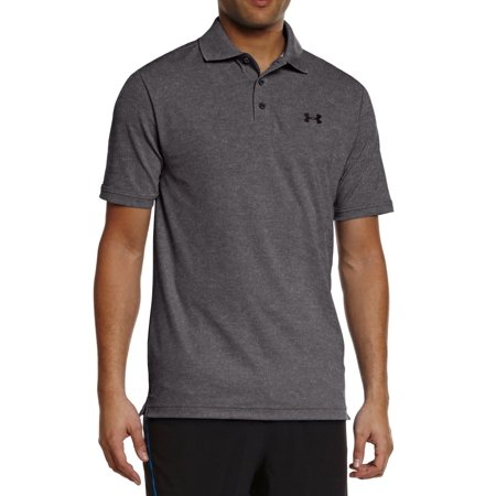 Under Armour NEW Charcoal Gray Mens Size Large L Polo Rugby Solid Shirt