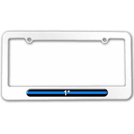 Thin Blue Line 1 One Asterisk, Police License Plate Tag Frame ...