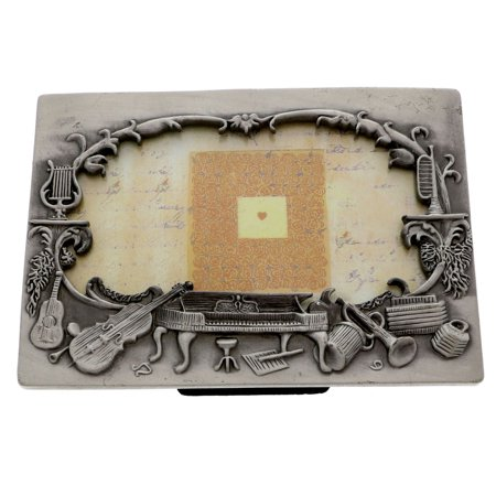 - Mi Amore Music Picture-Frame Pewter