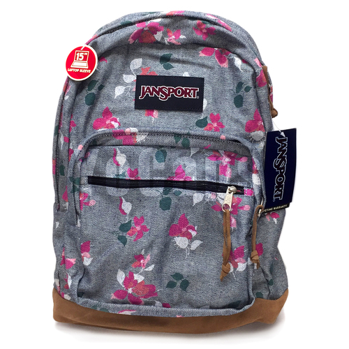 RIGHT PACK EXPRESSIONS BACKPACK CHAMBRAY SWEET BLOSSOM 15 LapTop