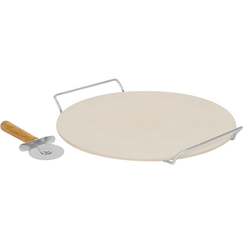 Baker's Secret 3-Piece Pizza Stone Set, Ceramic by World Kitchen LLC