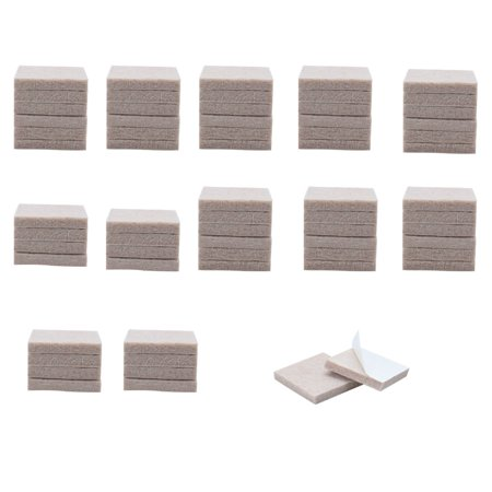 60pcs Felt Furniture Pads Square 1 8 Floor Protector For Bed Legs Feet