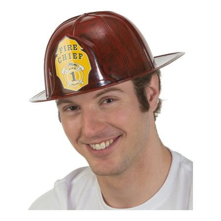 Adult's Brushed Red Fireman Firefighter Chief Hat Costume Accessory](Halloween Brushes)