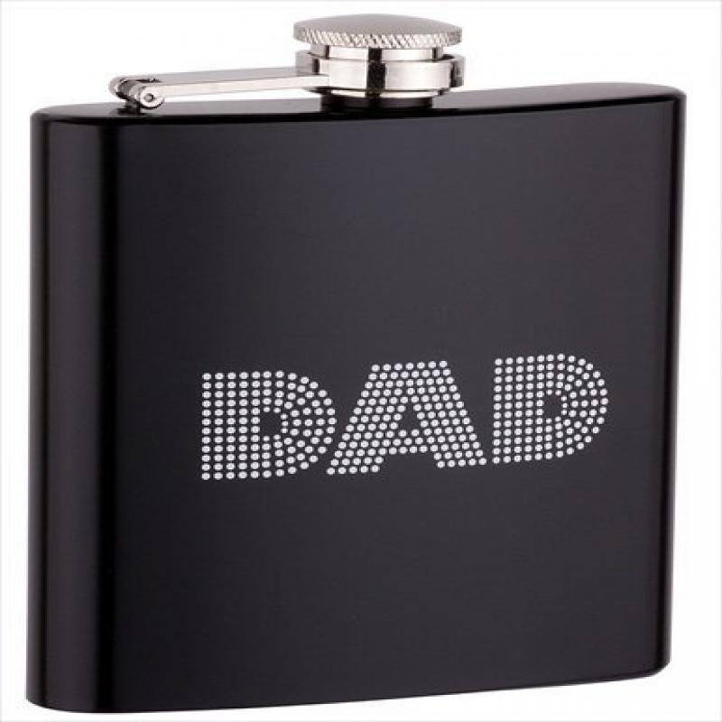 FJX Wholesale HFL-SP161 6oz Black Dad Flask