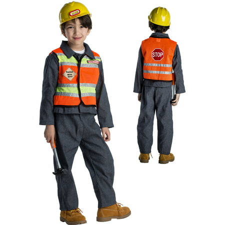 Kids Construction Worker Halloween Costume](Co Worker Halloween Costume Ideas)