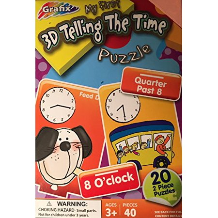 3-D Telling The Time Puzzle Age 3+ 40 Pieces](Discount Puzzles)