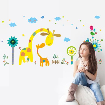 - Joyfeel Clearance Lovely Colorful Cartoon Animal Zoo Wall Stickers Kids Rooms Decor Children Wall Decals