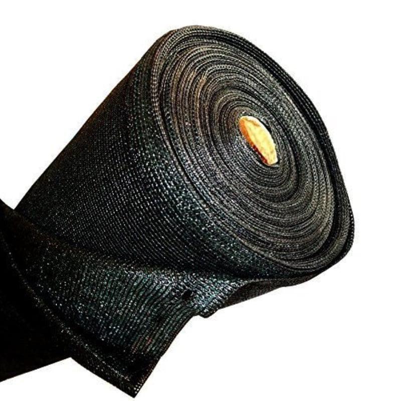 Aleko Privacy Mesh Fabric Screen Fence with Lock Holes - 6 x 150 Feet - Black