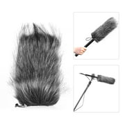 Suzicca Universal Professional Microphone Furry Windscreen Flexible Mount Fur Windshield for Rode VMGO Video Mic GO, VideoMic Pro, Micro for TAKSTAR SGC-598 598 for Sony EMC965 NV1 XM1 CG60, ect