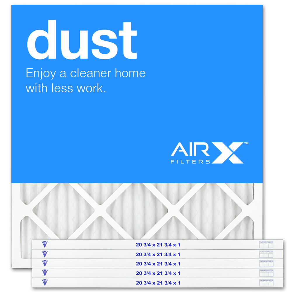 AIRx Filters Dust 21x21x1 Air Filter MERV 8 AC Furnace Pleated Air Filter Replacement Box of 6, Made in the USA