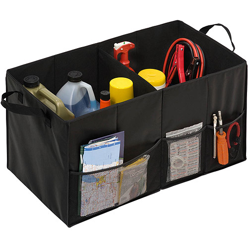 Honey-Can-Do Folding Trunk Organizer, Black