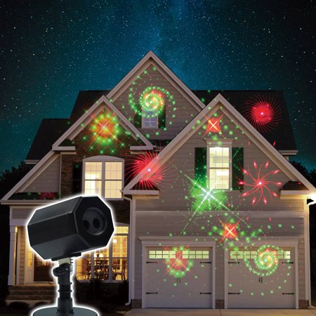 Christmas Animated Galaxy Laser Light with Timer and Memory, Red/Green ()