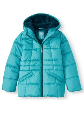 Wonder Nation Girl's Quilted Bubble Jacket (Little Girls, Big Girls & Plus)
