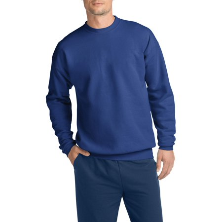 Hanes Men's Ecosmart Medium Weight Fleece Crew Neck Sweatshirt Blue Youth Fleece Crewneck Sweatshirt