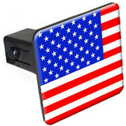 """Usa Flag 1.25"""" Tow Trailer Hitch Cover Plug Insert"""