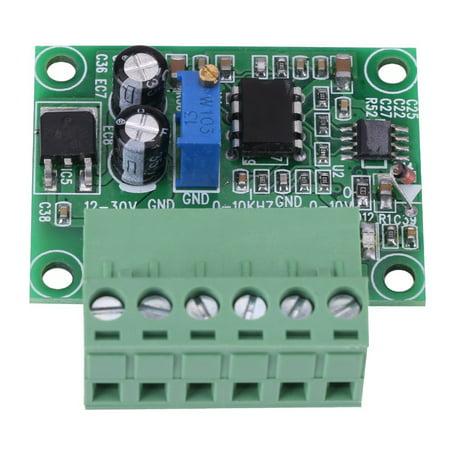 Mgaxyff Frequency to Voltage 0-10Khz to 0-10V F/V Digital to Analog Converter Module, 0-10V F/V Converter, 0-10Khz F/V Converter Frequency Voltage Converter