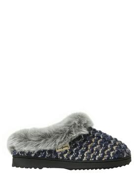 Dearfoams Womens Sweater Knit Scuff Slippers