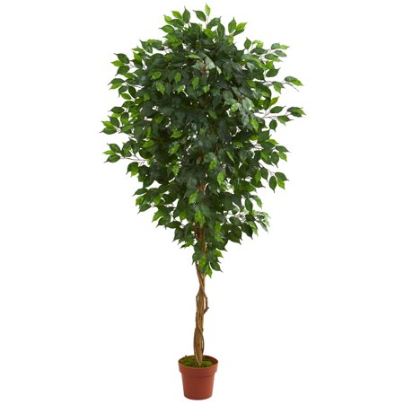 Nearly Natural 6 ft. Artificial Ficus Silk Tree, Green