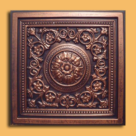 Majesty Antique Copper Black PVC Ceiling Tiles for Drop in Grid System (10 pack)