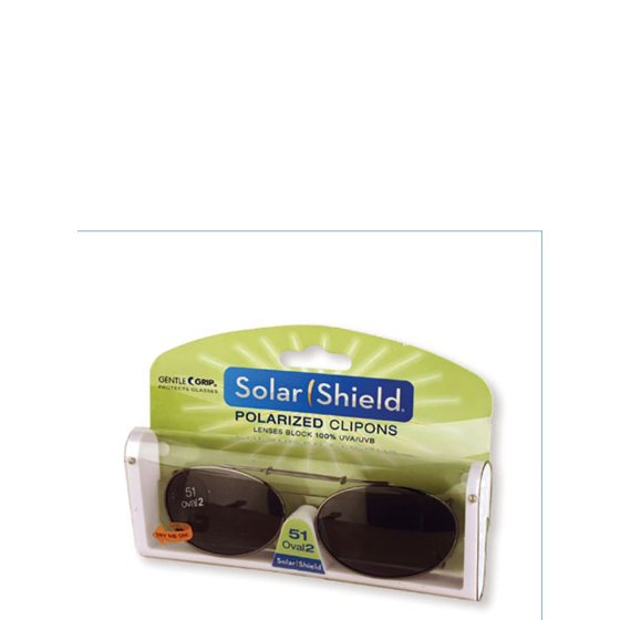 ade8c794c44 Solar Shield - Polar AB ClipOn Oval 2 51 Sunglass - Walmart.com