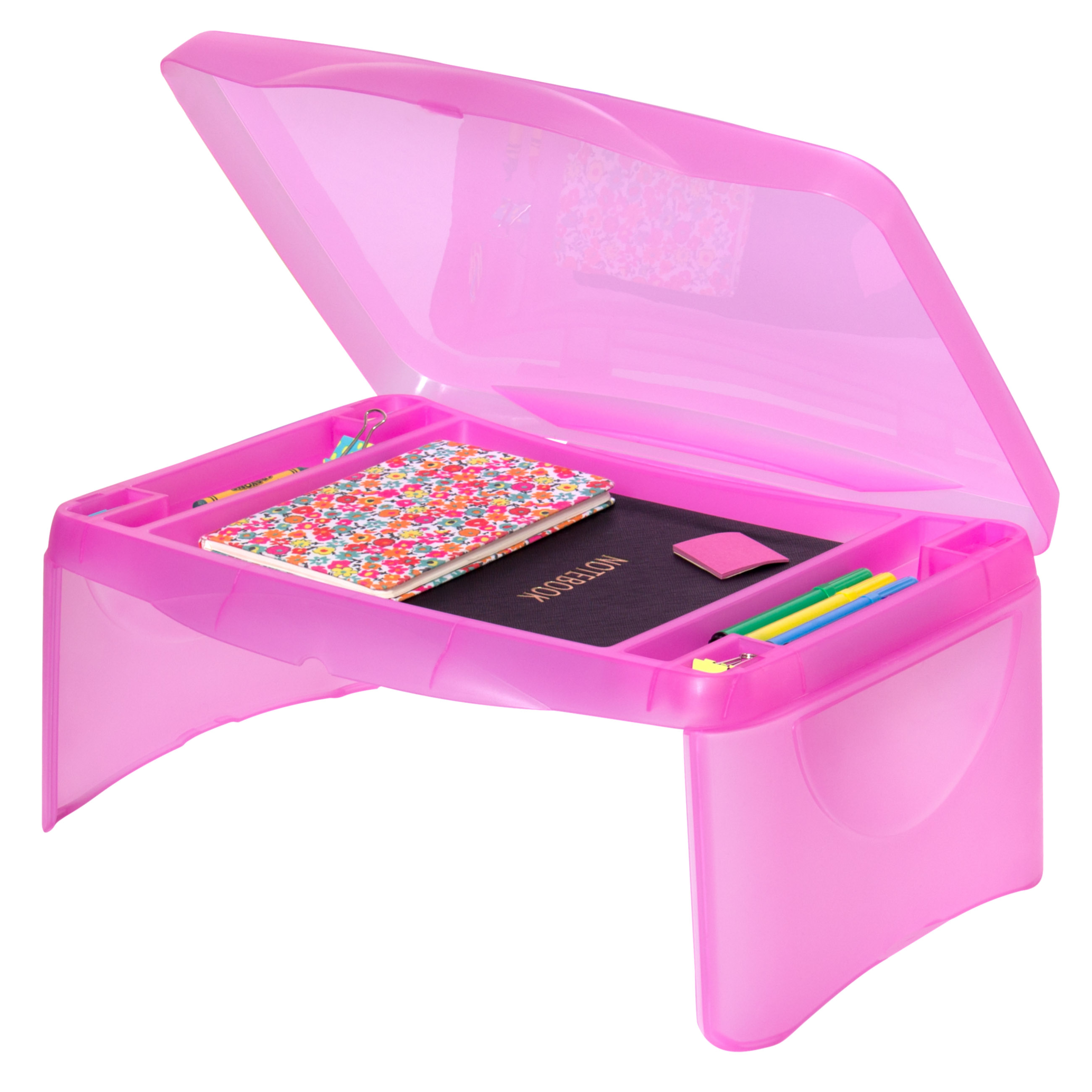 Best Choice Products Kids Folding Lap Desk W/ Storage- Pink