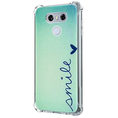 LUOLNH Compatible with LG G6 Case,LG G6 Case with Flower,Slim Shockproof Clear Floral Pattern Soft Flexible TPU Back - image 2 de 5