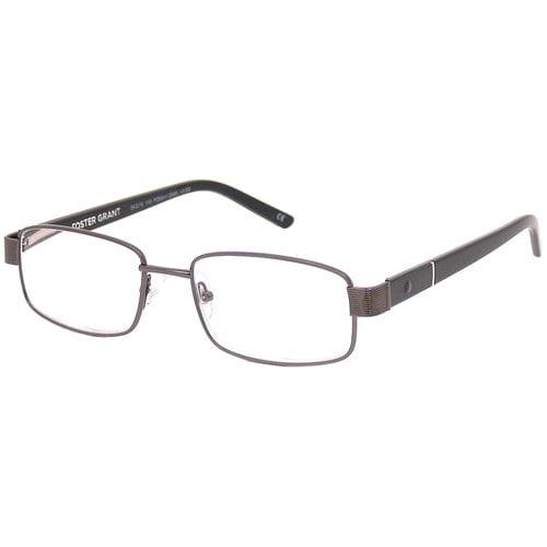 Foster Grant Men's Metal Plastic Reading Glasses, Lorenzo Gunmetal