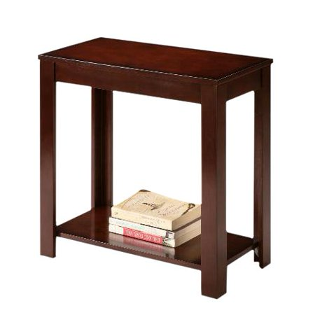 Espresso Cappuccino End Bedside Table Accent Piece, Multi Use - End Bedside Chairside Nightstand Accent Table By The Furniture Cove ()