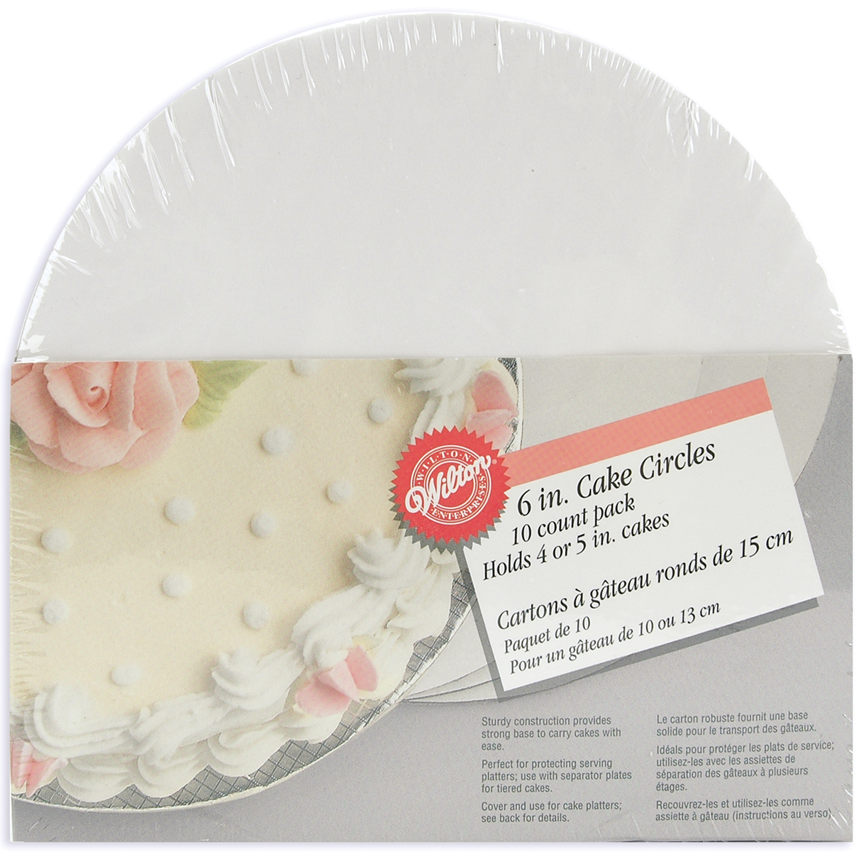 Cake Boards-6 Inch Circle 10/Pkg
