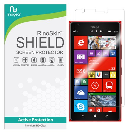 Nokia Lumia 1520 Screen Protector RinoGear Flexible HD Crystal Clear Anti-Bubble Unlimited Replacement Film (Lumia Icon Replacement Screen)