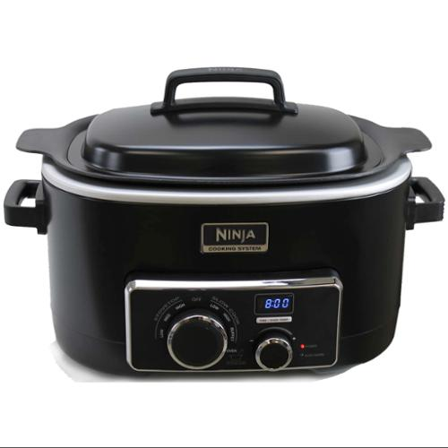 Ninja MC702 Multi Cooker 3-in-1 Cooking System Digital 6 Quart 1200W with Pans [Refurbished]
