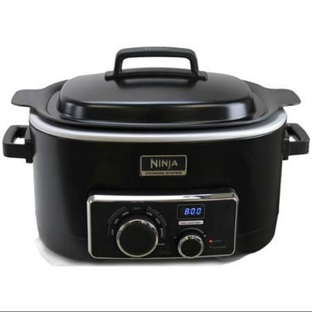 Ninja 3 In 1 Multi Setting 6 Quart Cooking System Black Refurbished Mc702 Refurbished