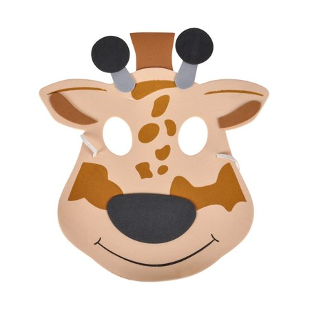 New Halloween Costume Party Foam Zoo Animal Giraffe Mask](Zone News Halloween)