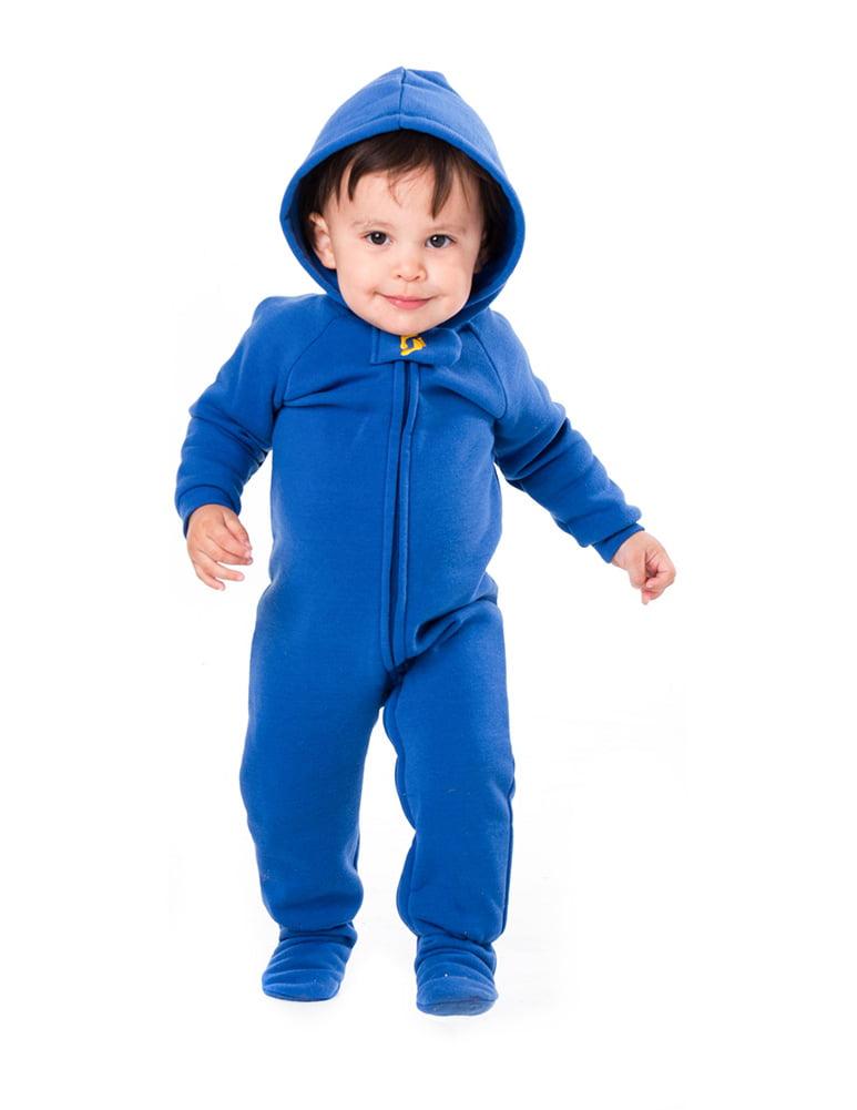 02322dd6b Footed Pajamas - Marine Navy Infant Hoodie Onesie - Walmart.com