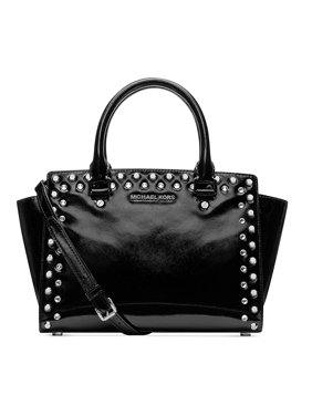 b5988029934d Product Image MICHAEL Michael Kors Selma Jewel Medium Top Zip Satchel (Black )